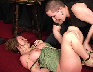 Date night bondage  dominatrix bridgett ropes graziella for an sensual night of bdsm. Mistress Bridgett ropes Graziella for an erotic night of bdsm