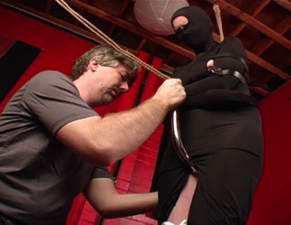 Strapping lovely time  morganna gets bound with leather straps and has the hook pulled up between her legs. Morganna gets bound with leather straps and has the hook pulled up between her legs