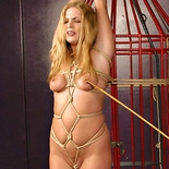 Samantha bound  libidinous samantha suffers bound caging before the clamps and the vibe. Sexy Samantha suffers bound caging before the clamps and the vibe